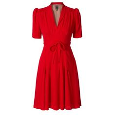 Orla Kiely Heavy Crepe Tea Dress in red. In love with this dress. It looks like something a Hitchcock blonde would wear. ;)
