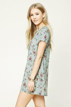 Floral Print Shift Dress | Forever 21 - 2000207156