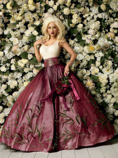 Christina Aguilera  #fashion #dress #photoshoot #flowers #photography #ideas #inspiration