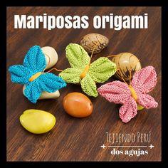 Mini video Tutorial de hoy miércoles: mariposas inspiradas en el arte de origami tejidas en dos agujas o palitos! Pueden ver el video en nuestro canal de YouTube: http://youtu.be/fPHfMpe_jdY This video includes English subtitles: Knitted butterflies and bows (inspired by origami)!