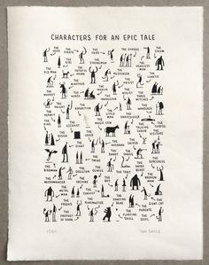 Tom Gauld - Characters for an Epic Tale