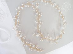 Moonstone long hair vine Wedding hair vine Crystal pearls