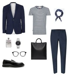 """Untitled #4"" by rayensulistiawan on Polyvore featuring Topman, Banana Republic, A.P.C., Dr. Martens, Gucci, Emporio Armani and Yves Saint Laurent"
