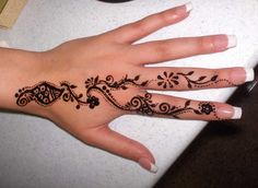 Henna on hand n fingers tattoo. Find and save ideas about Henna on hand n fingers tattoo on Tattoos Book. More than FREE TATTOOS Mehndi Designs, Small Henna Designs, Finger Henna Designs, Henna Tattoo Designs, Hand Designs, Flower Designs, Mehndi Tattoo, Henna Tattoos, Tatoos