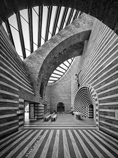 wmud:  mario botta - church of st john the baptist, lavizzara, switzerland, 1996