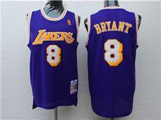 2cc818fc1 Los Angeles Lakers  8 Kobe Bryant 1996-97 Purple Hardwood Classic Jersey