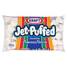 Marshmallows like you always wanted as a kid. Kraft Jet Puffed Jumbo Marshmallows, 24 Ounce Bag - Pack of Jet Puffed Marshmallows, Roasting Marshmallows, Summer Snacks, Fun Snacks For Kids, Squishies, Camping Desserts, Marshmallow Fondant, Marshmallow Playdough, Marshmallow Salad