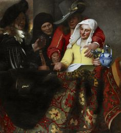 Johannes Vermeer, The Procuress, 1656 Oil on canvas 143 x 130 cm. (56 1/8 x 51 1/8 in.) Gemäldegalerie Alte Meister (Old Masters Picture Gallery), Dresden