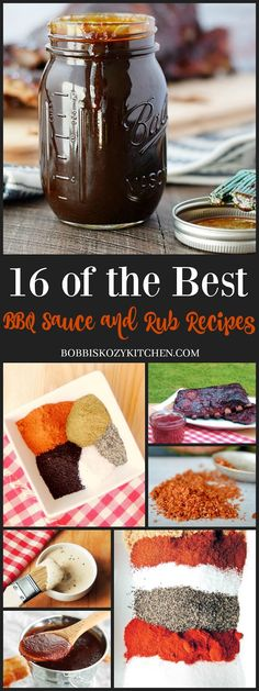16 of the Best BBQ Sauce and Rub Recipes from www.bobbiskozykit… 16 of the Best BBQ Sauce and Rub Recipes from www. Barbecue Sauce Recipes, Grilling Recipes, Bbq Sauces, Alabama Bbq Sauce Recipe, Smokey Bbq Sauce Recipe, Molasses Bbq Sauce Recipe, Apple Bbq Sauce Recipe, Best Bbq Sauce Recipe, Best Barbecue Sauce