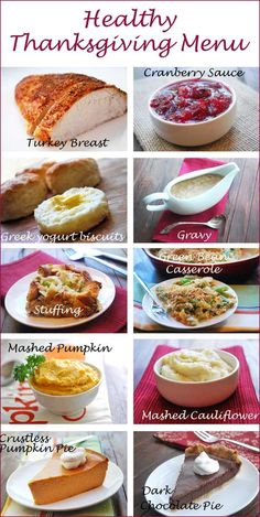 Healthy Thanksgiving Menu | Healthy Recipes Blog  We should try some of these mama! Especially the biscuits and the pumpkin pie!