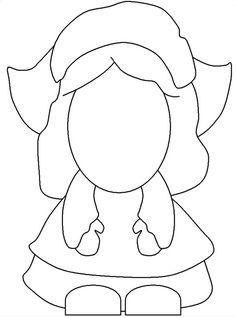 turkey template for bulletin board - pilgrim girl template kindergarten pinterest
