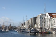 The seaside harbour of Ostend
