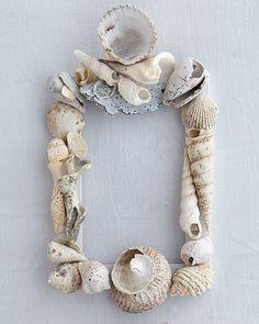 Seashell Picture Frame - http://www.sweetpaulmag.com/crafts/seashell-picture-frame #sweetpaul