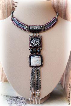 "Necklace, handmade beads. Fair Masters - handmade Necklace ""A warm shower."" Handmade."