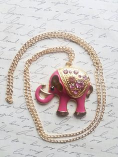 $5 Deal! Many colors available  https://www.etsy.com/listing/508597079/pink-elephant-pendant-rhinestone
