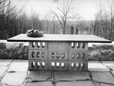Architect Marcel Breuer design, modernist and Bauhaus originator. Easy to replicate for outdoor dining table on covered porch.
