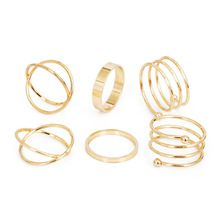 Cheap knuckle rings for women, Buy Quality knuckle ring directly from China unique ring Suppliers: KISS WIFE Hot Unique Ring Set Punk Gold Color Knuckle Rings for women Finger Ring 6 PCS Ring Set Best Selling 2017 White Gold Ruby Ring, Gold Diamond Wedding Band, Morganite Ring, Knuckle Rings, Wrap, Gold Set, Punk, Bridal Rings, Unique Rings