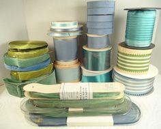 vintage ribbons wholesale 477 yards blue olive turquoise velvet satin grosgrain