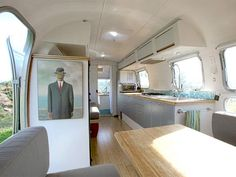 I have always had a thing for Airstream trailers. Combining the gorgeous vintage design of the outside of an airstream with the clean classy new look of a modern renovation makes this truly a beautiful project. Airstream Remodel, Airstream Renovation, Airstream Interior, Trailer Interior, Airstream Trailers, Trailer Remodel, Travel Trailers, Rv Travel, Airstream Bathroom