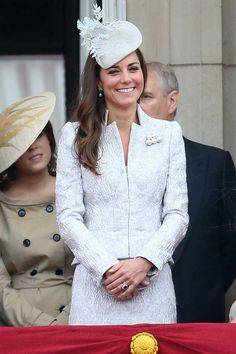 Kate Middleton in Alexander McQueen and Jane Taylor at Trooping the Colour. June 2014.