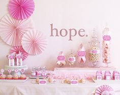hope for a cure - breast cancer printables