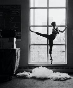 pointe in a window.. very pretty