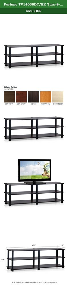 Furinno TV14038DC/BK Turn-S-Tube No Tools 3-Tier Entertainment TV Stands, Dark Cherry/Black. Furinno turn-s-tube (TST)No tools 3-tier entertainment TV stands come in variety fun colors. (1) unique structure: open display rack, shelves provide easy storage and display of TV or other audio/video accessories. Suitable for any rooms. Designed to meet the demand of low cost but durable and efficient furniture. It is proven to be the most popular RTA furniture due to its functionality, price…