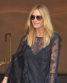 "Heidi Klum leaving her hotel in Manhattan to work on the latest season of ""Project Runway"" on June 17, 2016."
