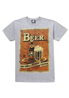 a0dbeb9d263e6 Details about Official MENS The Simpsons DUFF BEER VINTAGE LOOK AD Logo T  Shirt