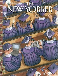The New Yorker cover, June 1997 by Michael Roberts The New Yorker, New Yorker Covers, Vintage Comics, Vintage Posters, Capas New Yorker, Back To School Art, Michael Roberts, Magazine Art, Magazine Covers