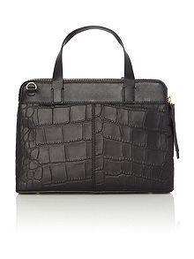 Croc black medium tote bag