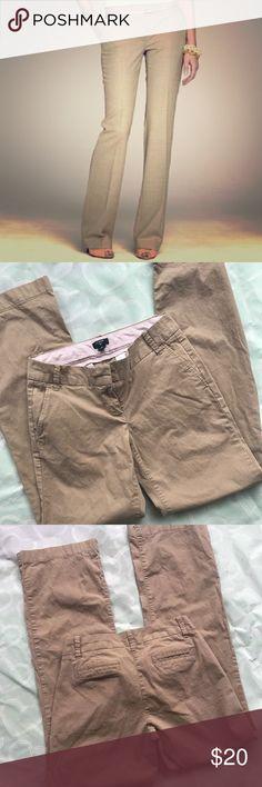 J.Crew City Fit pants size 2 Brand- J.Crew  ***EUC women's khaki stretch city fit pants size 2   ***inseam 33 inches J. Crew Pants