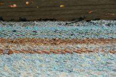 "Rug ""Sky Meets Sea On Sandy Shores"" - Terra Mama Hand Weaving, Rugs, Farmhouse Rugs, Hand Knitting, Rug, Weaving"