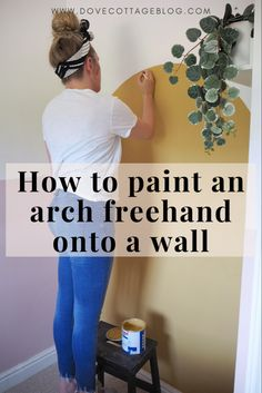Diy Wall Painting, Block Painting, House Painting, Curved Walls, Hand Painted Walls, Office Makeover, Boho Diy, Color Blocking, Colour Blocking Interior