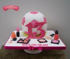 Girly Teenage Footballer by The Custom Cakery