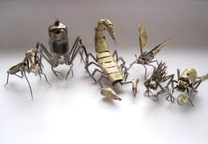 Tiny mechanical insects made of watch parts by Justin Gershenson-Gates. - Imgur