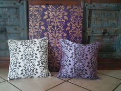 You can make these beautiful Damask cushions by using our stencils and stencil paint.