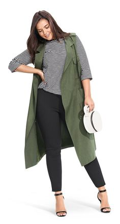 Plus Size Trench Vest - Who What Wear for Target Curvy Outfits, Mode Outfits, Trendy Outfits, Fashion Outfits, Fashion Ideas, Fashion Clothes, Fashion Tips, Dress Fashion, Diy Outfits