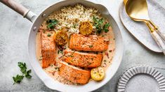 Salmon with Sun-Dried Tomato Cream Sauce Seafood Recipes, Beef Recipes, Recipies, Cooking Recipes, Tomato Cream Sauces, Salmon, Cooking Light, Eating Well, Clean Eating