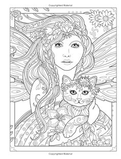 Adult Coloring Book Creative Haven Magical Fairies Coloring Book (Creative Haven Coloring Books) Farm Animal Coloring Pages, Love Coloring Pages, Mermaid Coloring Pages, Cat Coloring Page, Printable Adult Coloring Pages, Creative Haven Coloring Books, Bunt, Printables, Drawings