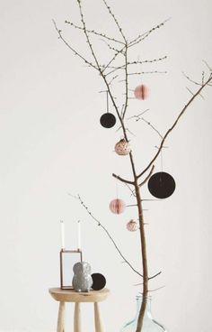 Kerstdecoratie papieren ornamenten