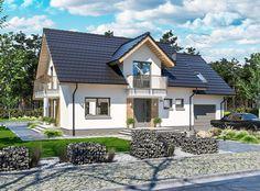 Attic Design, Home Fashion, My Dream Home, Garden Art, Bungalow, House Plans, Villa, Exterior, Cabin