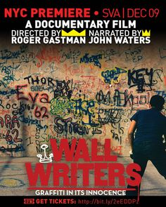 Roger Gastman on <em>Wall Writers: Graffiti in Its Innocence</em> and Its December 9th NYC Premiere  at SVA