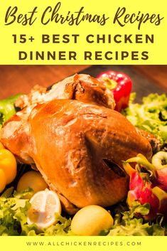 Chicken Recipes for Christmas - Enjoy our best chicken recipes for Christmas dinner eve that you make pretty quickly and serve hot with your family. Chicken Main Course Recipes, Easy Chicken Thigh Recipes, Chicken Breast Recipes Healthy, Healthy Chicken Recipes, Beef Recipes, Chicken Breast Recipe Video, Healthy Chicken Dinner, Appetizer Recipes, The Best