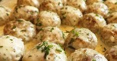 Recept: Húsgombócok krémes, petrezselymes mártásban