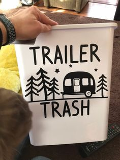 trailer trash garbage can