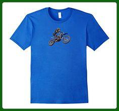 Mens Motorbike Motocross Stunt Bike T Shirt Fathers Day XL Royal Blue - Holiday and seasonal shirts (*Amazon Partner-Link)