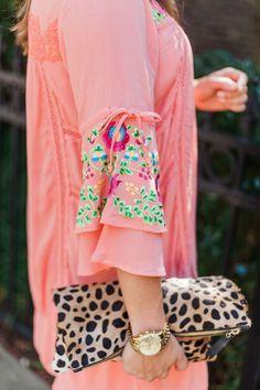 Summer Style via Glitter & Gingham / Embroidered Dress, Steve Madden Wedges, Tassel Earrings, Clare V. Clutch