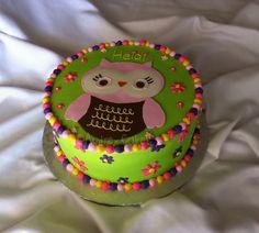 Owl Birthday Cake by The Cake Chic, via Flickr