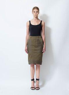 Céline | Runway 2010 Army Skirt | RESEE